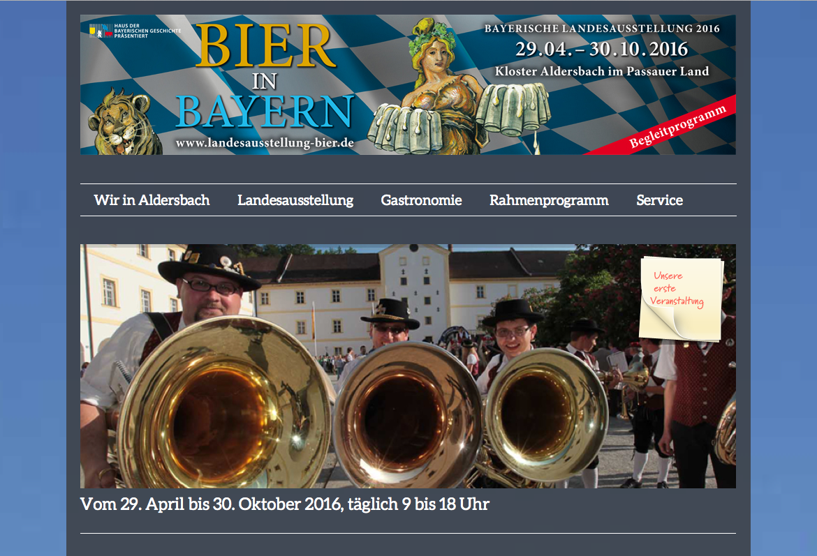 Screen Landesausstellung Bier 2016